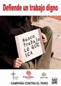 Cáritas Madrid. Campaña contra el paro 2015