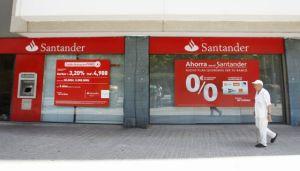 Una oficina del Banco Santander. Foto de Albert Gea para REUTERS, ©