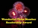 Wonderful Team Member Readership Award 2014