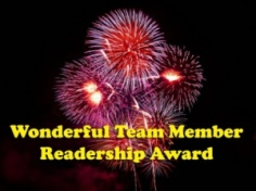 Wonderful Team Member Readership Award 2014